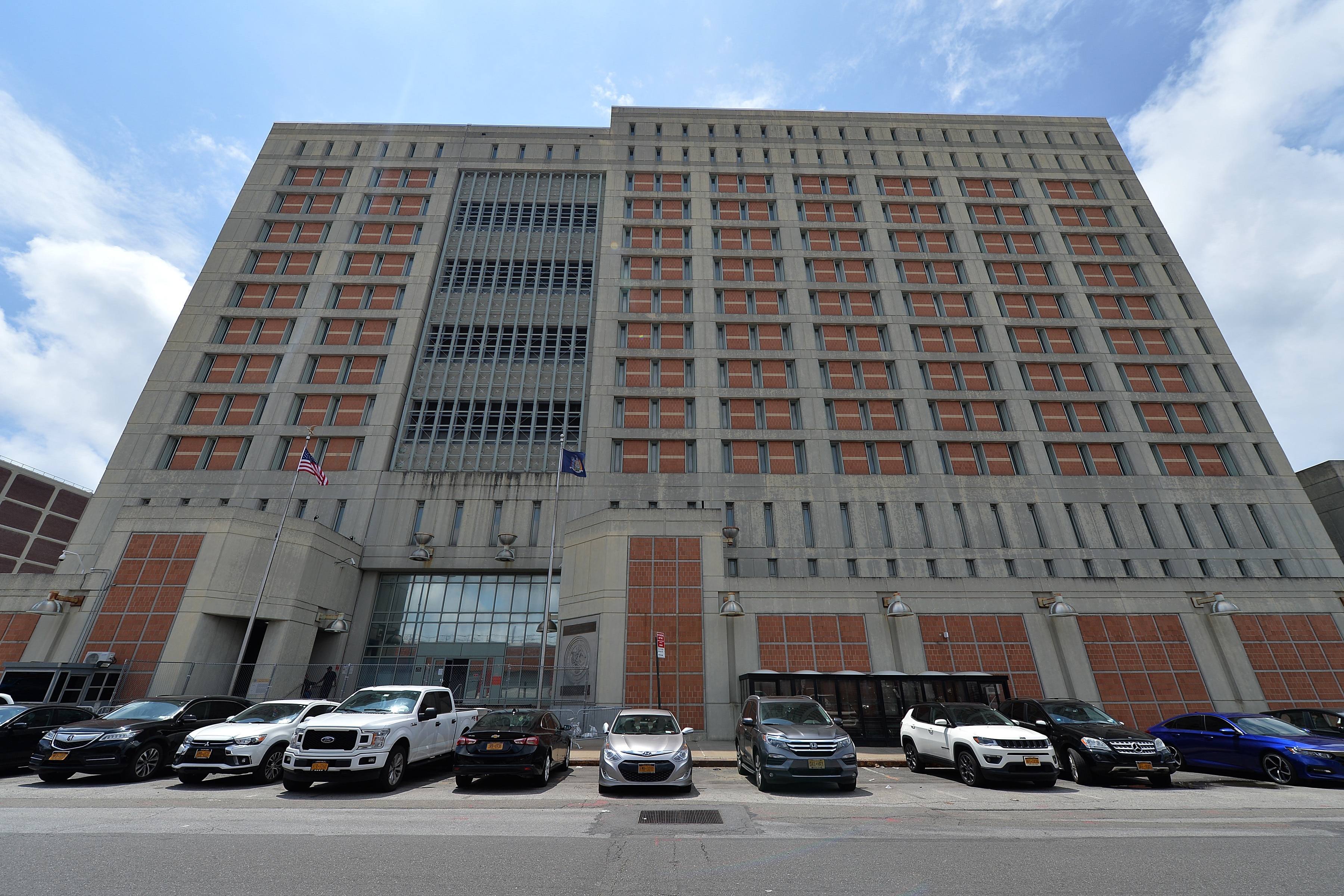 Outside view of Metropolitan Detention Center where Ghislaine Maxwell, former girlfriend of Jeffrey Epstein, was held after being arrested.