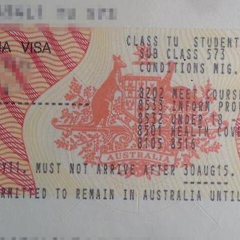 Obsolete visa sticker
