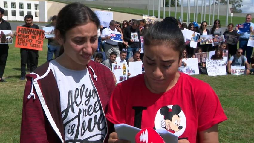 Yazidi teenagers in Australia demand freedom for women