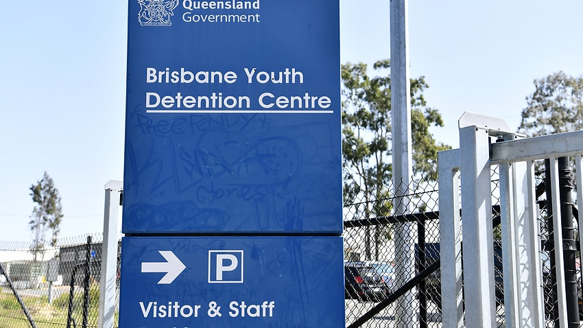 The entry to the Brisbane Youth Detention Centre is seen in Brisbane.
