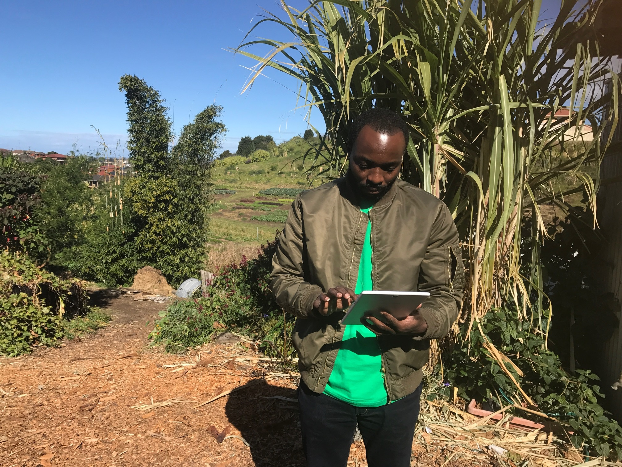 Emmanuel Bakenga began working with Green Connect as a general team member but has since been promoted to the role of Community Support Manager
