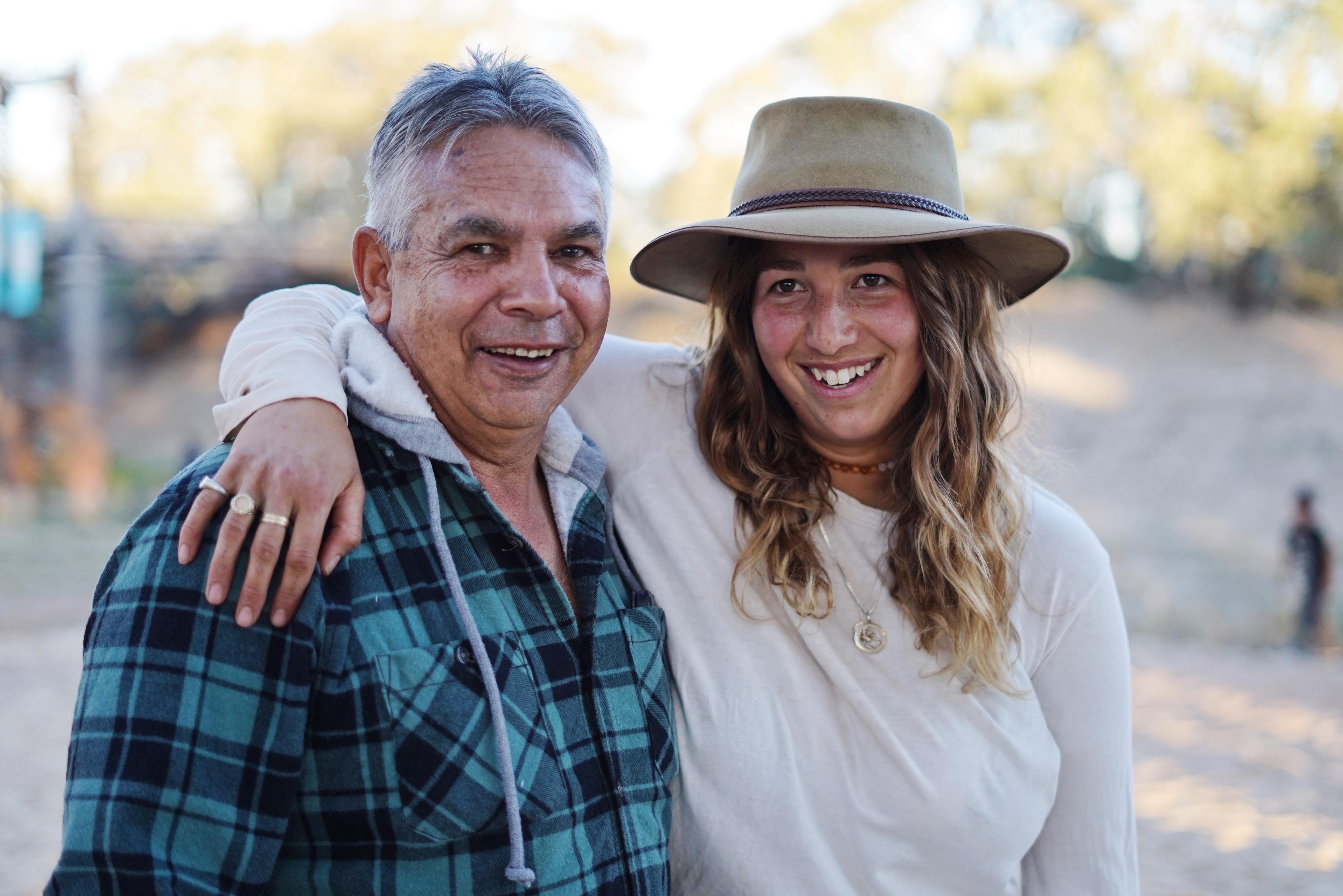Eddy Harris and Lilliana Bennett both want to see the Darling River returned to it's former glory.