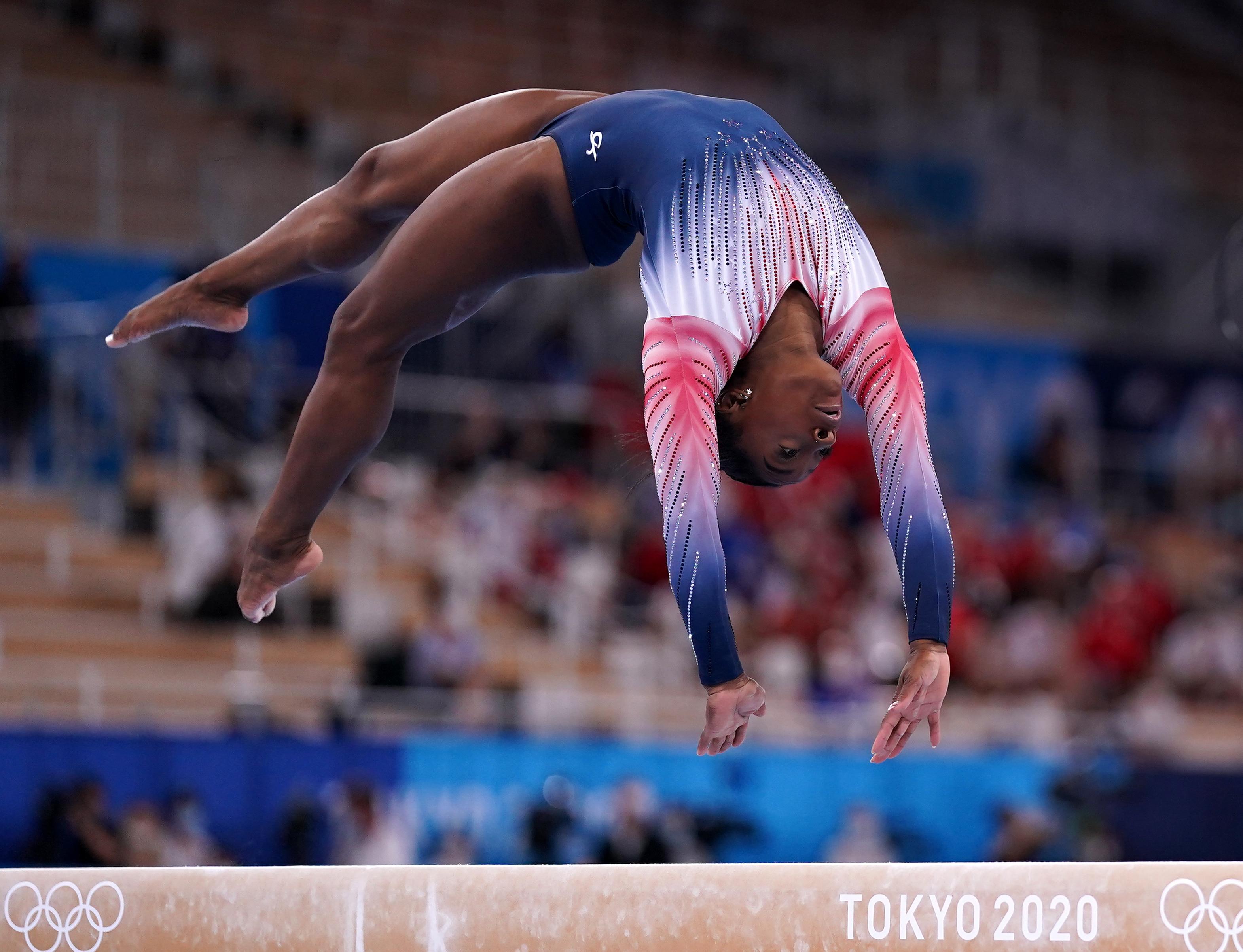 Simone Biles in the women's balance beam final