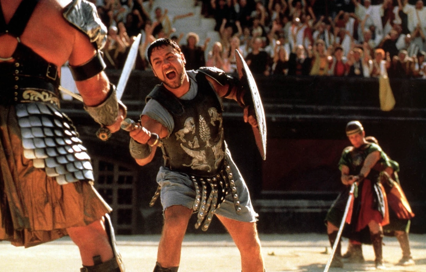 Russell Crowe's Gladiator armour exceeds expectations at auction