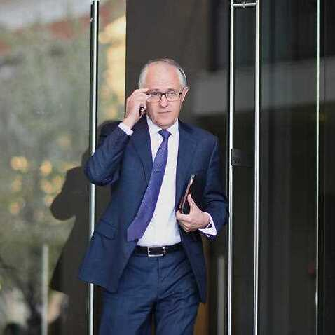 Australian Prime Minister designate Malcolm Turnbull leaves his home in Canberra, Tuesday, Sept. 15, 2015. (AAP)