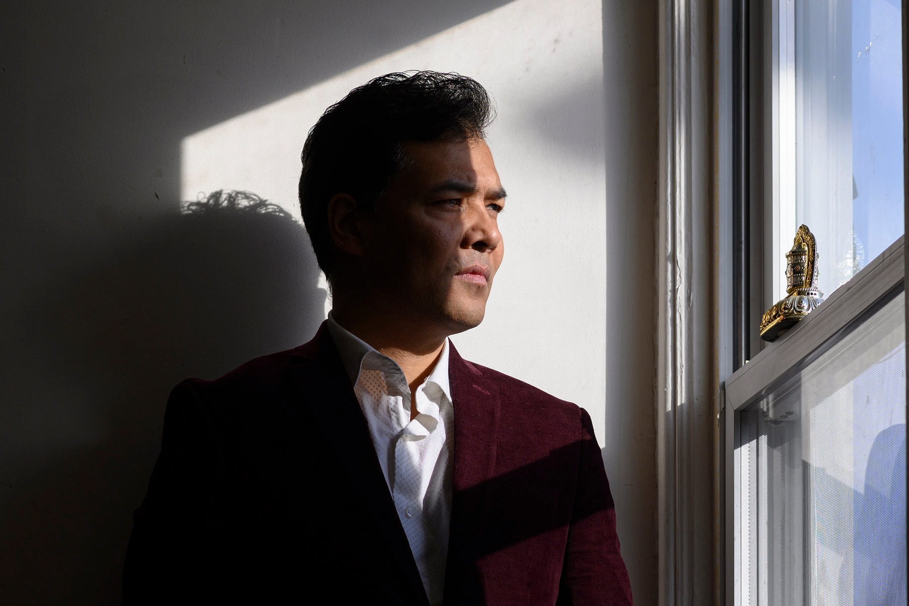 Tahir Imin, an Uighur whose blood was drawn, his face scanned and his voice recorded by authorities in China's Xinjiang region, in Washington