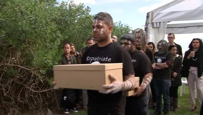 The remains of 11 Indigenous people from the Kaurna nation are laid to rest.