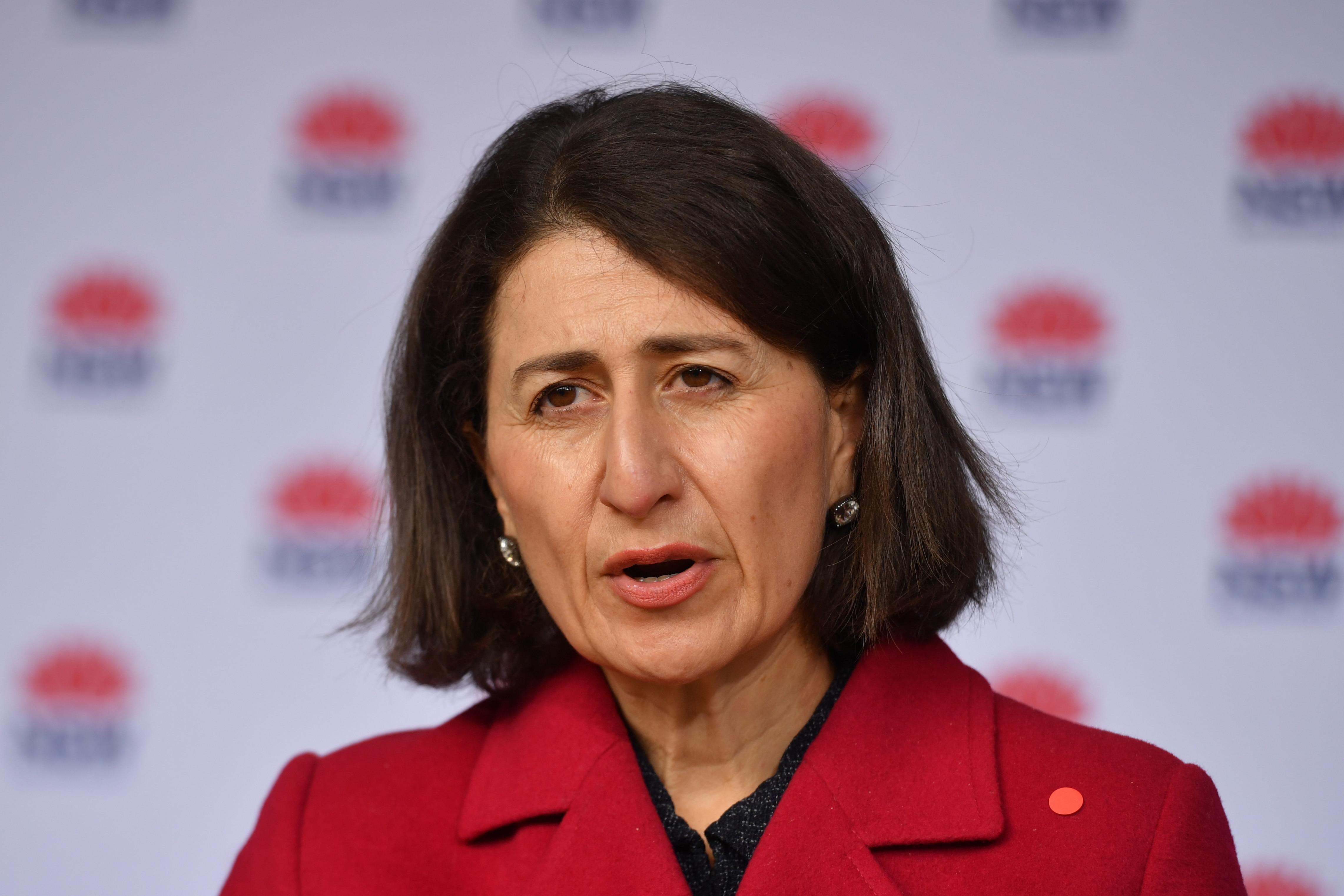 NSW Premier Gladys Berejiklian at a press conference.