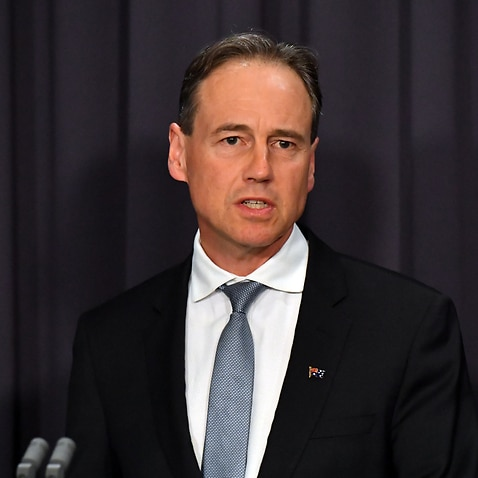 Minister for Health Greg Hunt gives a COVID-19 update at a press conference at Parliament House in Canberra, Wednesday, October 14, 2020. (AAP Image/Mick Tsikas) NO ARCHIVING
