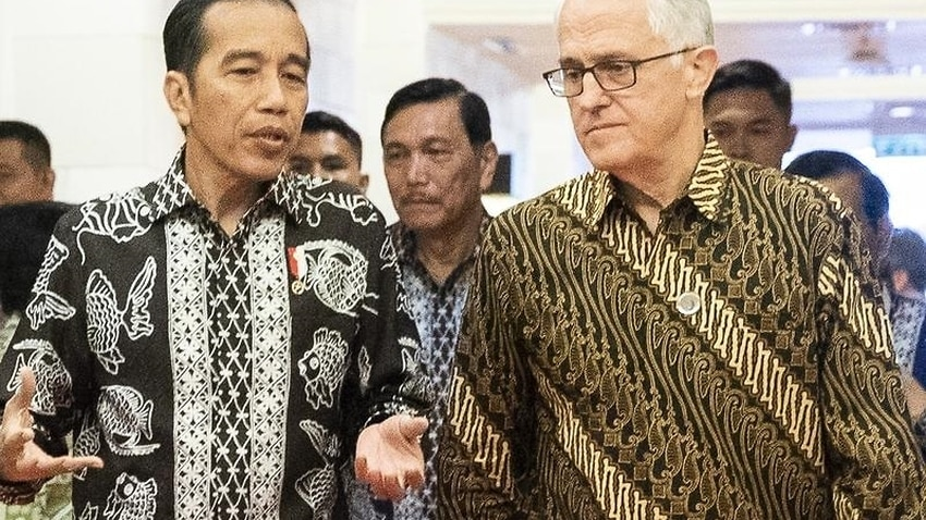 Malcolm Turnbull met with Indonesia President Joko Widodo in Bali