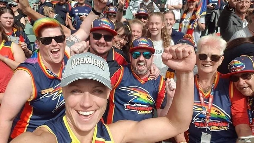 Image for read more article 'How LGBTQI+ AFL fans have banded together to create a network of pride groups'