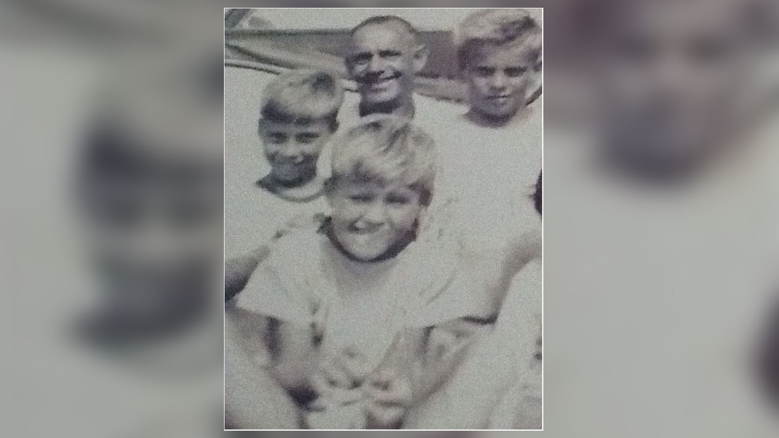 Daryl Higgins as a child, front, with his father Jack, centre, and brothers Lawrence, left, and Keith, right.