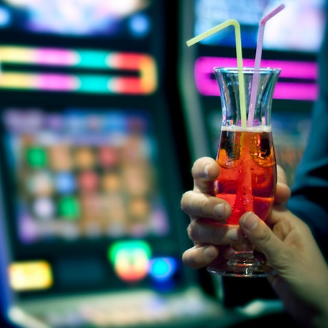 Cocktail in a casino