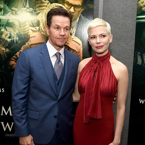 Mark Wahlberg (L) and Michelle Williams attend the premiere of Sony Pictures Entertainment's 'All The Money In The World' at Samuel Goldwyn Theater in Beverly Hills, California.