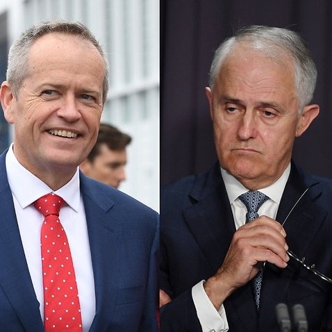 File images of Bill Shorten and PM Malcolm Turnbull