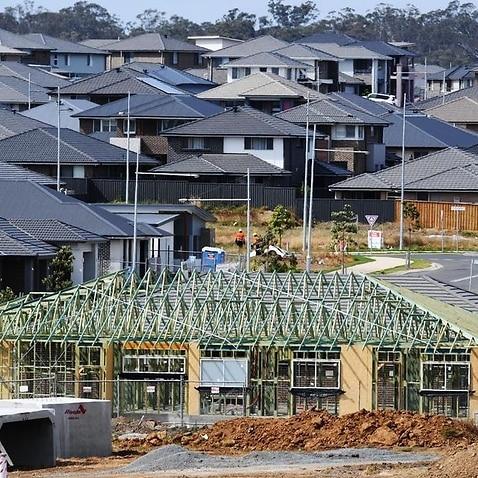 A new housing estate in southwestern Sydney