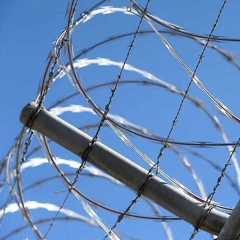 Prison razor wire.