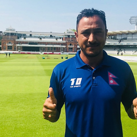 Nepal Cricket captain Paras Khadka before ICC triangular T20 series at Lords cricket ground on 29 July 18.