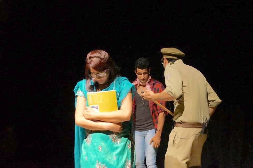 Another scene from the rehearsal of Moga to Melbourne
