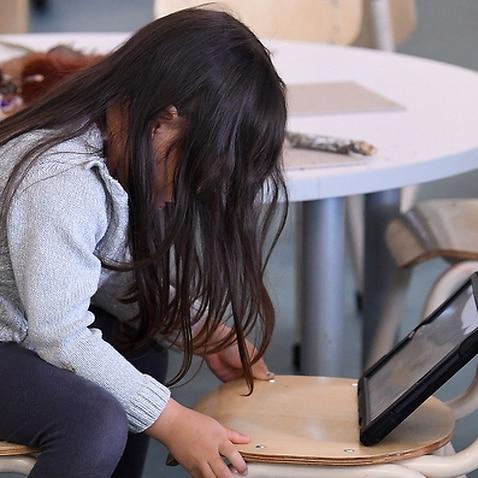 A child at a preschool centre.