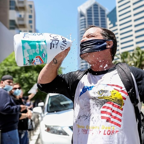 A rally in San Diego