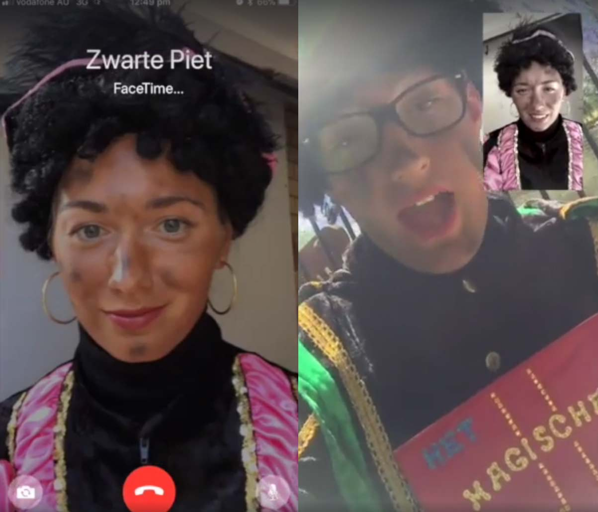 Zwarte Piet do Facetime