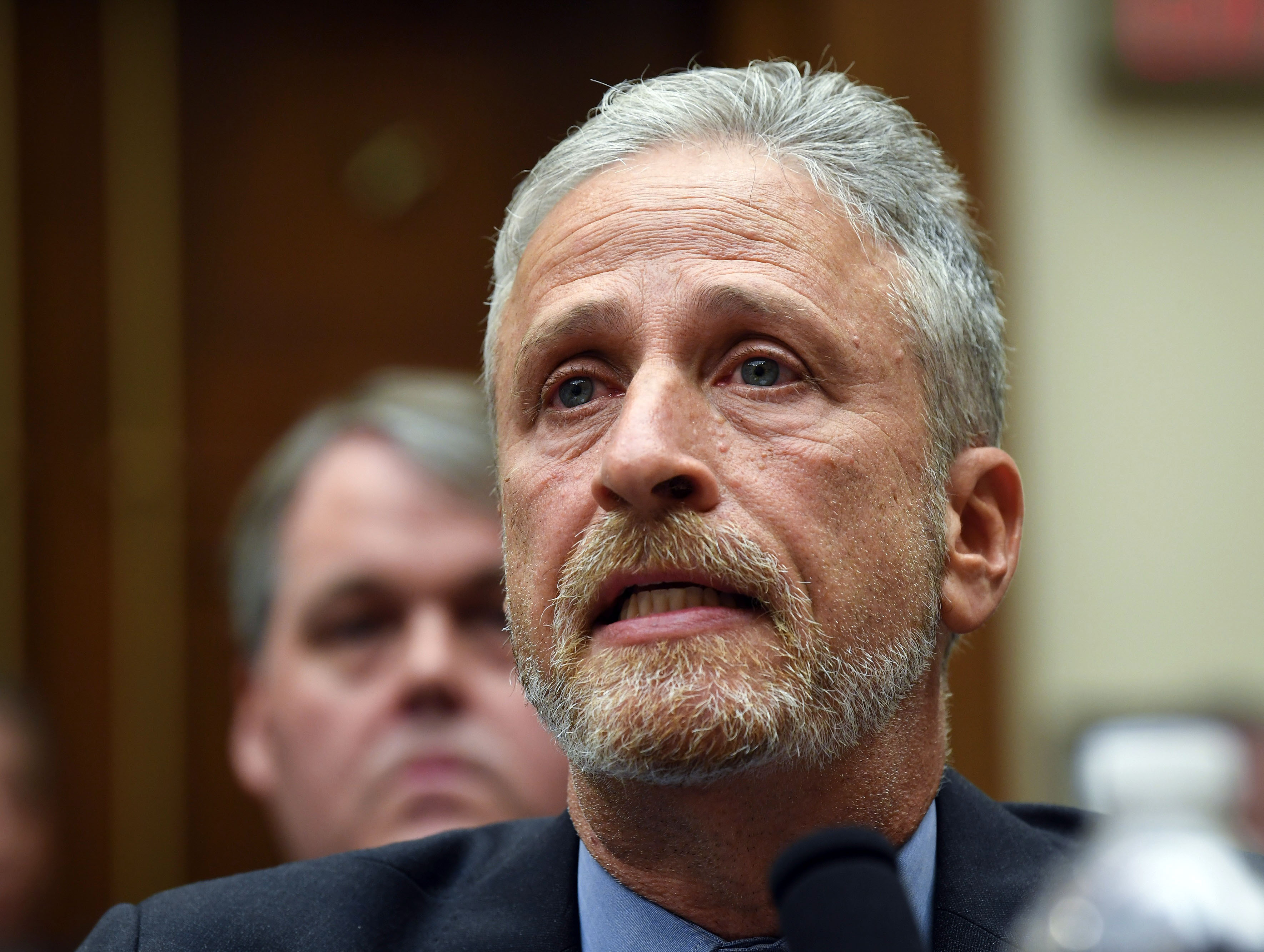 Jon Stewart testifies in front of the House Judiciary Committee on the need to reauthorie the September 11th Victim Compensation Fund.