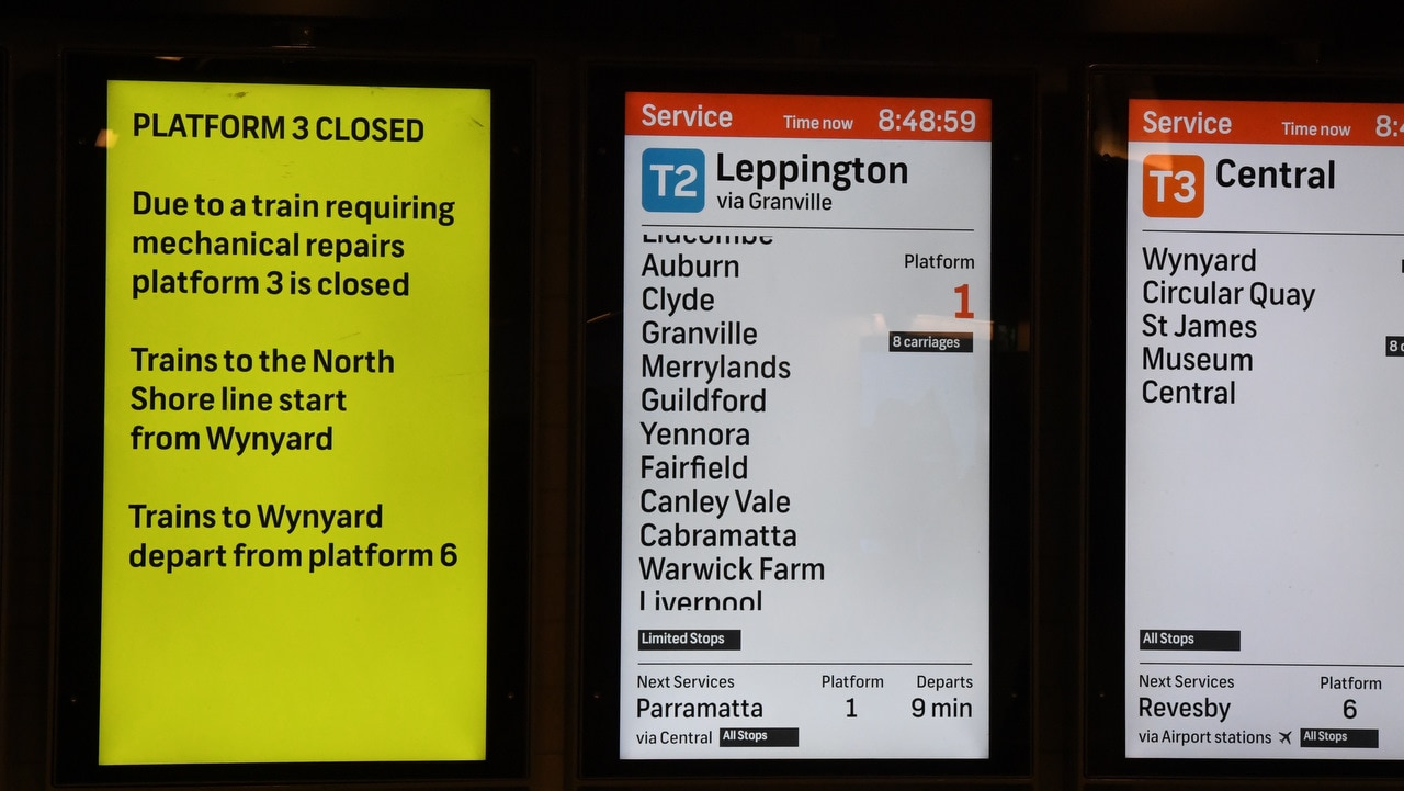 A train breakdown at Town Hall station has caused hours of delays on the network.
