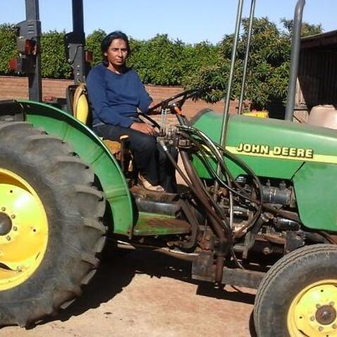 Daljit Sanghera at her farm in Loxton, South Australia