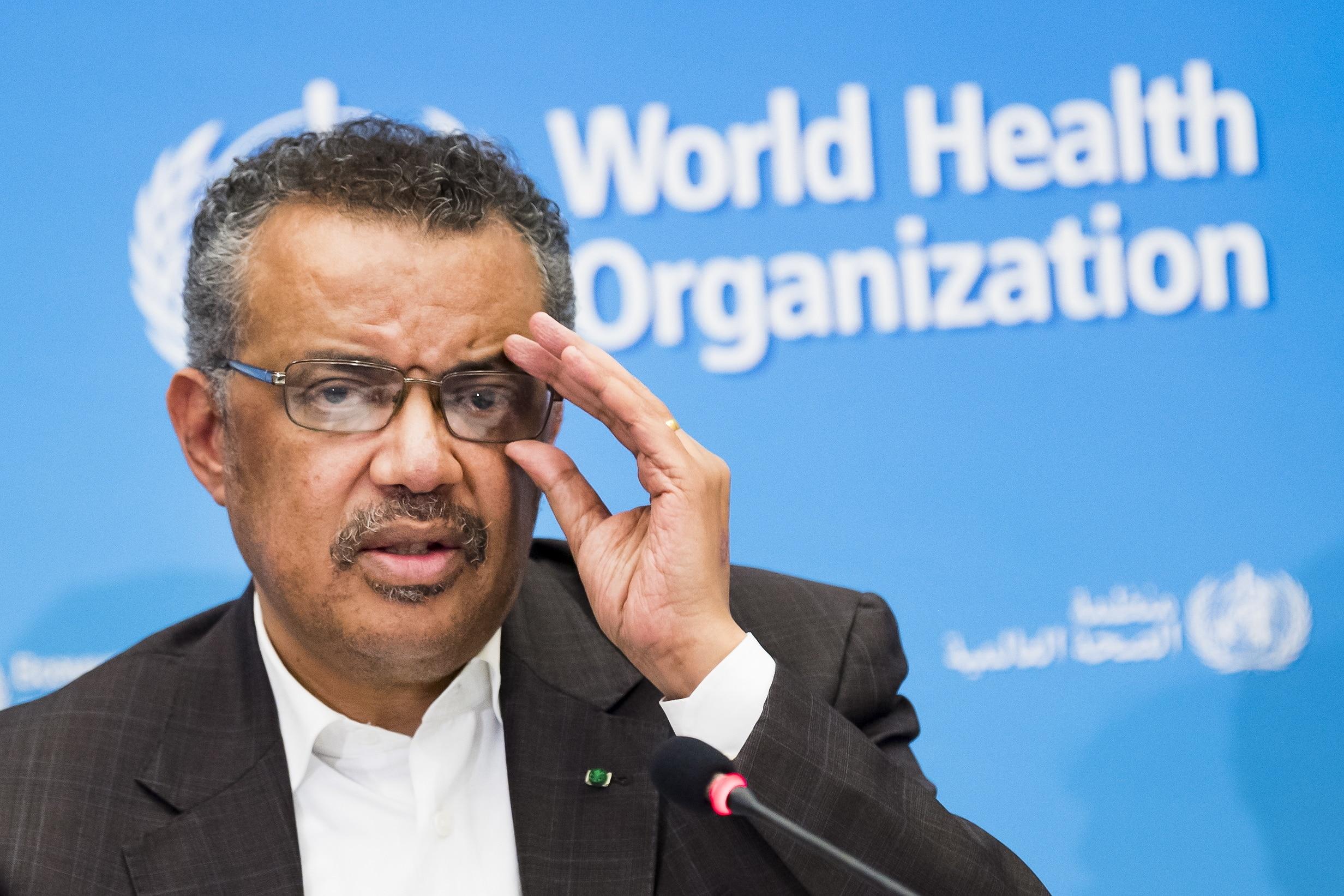 Tedros Adhanom Ghebreyesus, Director General of the World Health Organisation (WHO).