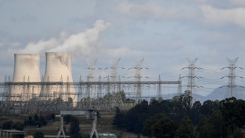 Bayswater coal-fired power station in the NSW Hunter Valley region.