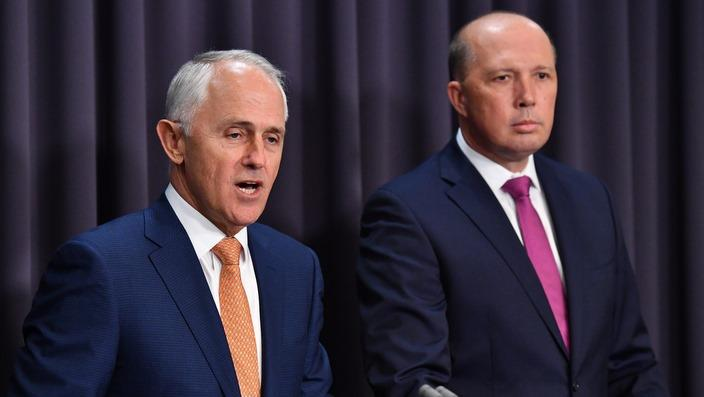 The Prime Minister Malcolm Turnbull and Immigration Minister Peter Dutton.