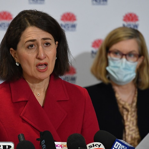 NSW Premier Gladys Berejiklian and Chief Health Officer Dr Kerry Chant at a press conference to provide a COVID-19 update in Sydney.