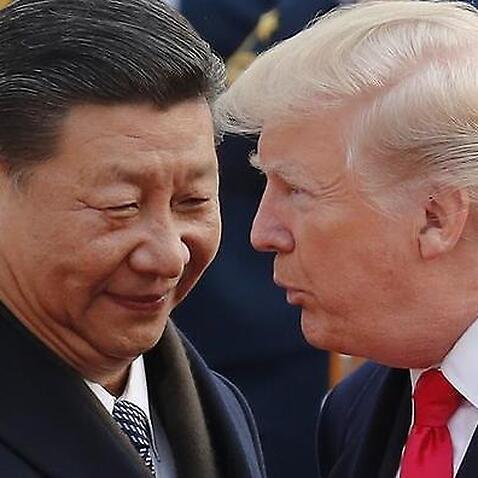 Donald Trump and Xi Jin Ping Smiling