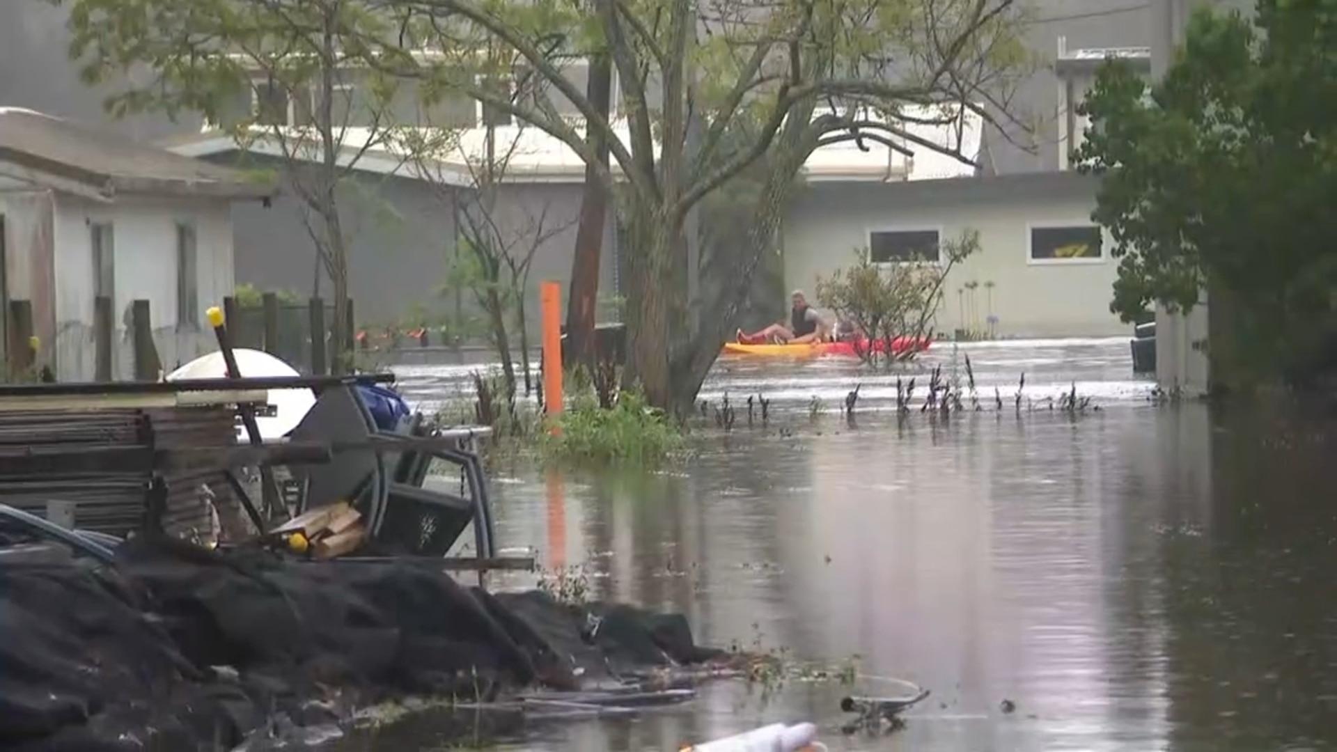 Flood damage in Lake Conjola.