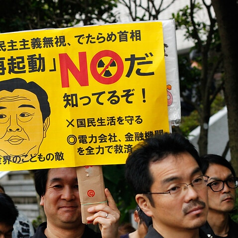 Anti-nuclear demonstration in front of the Japanese Diet, June 22, 2012.