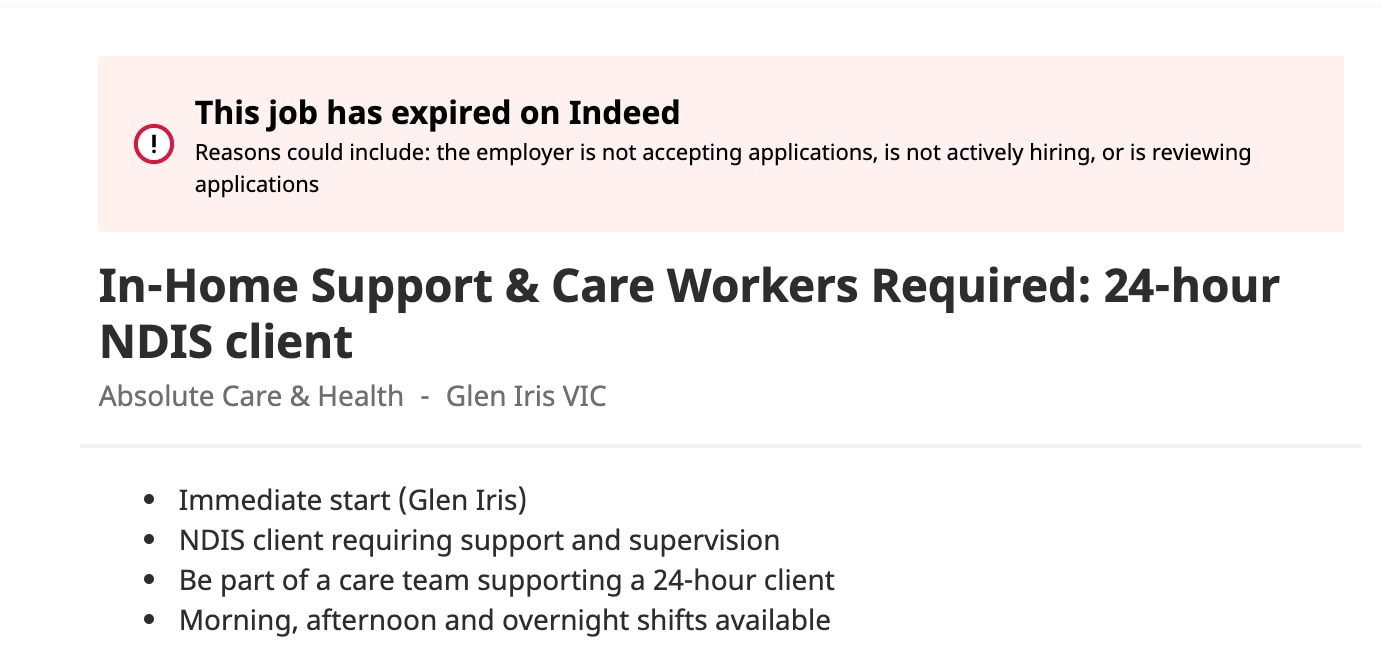 Controversial job ad withdrawn