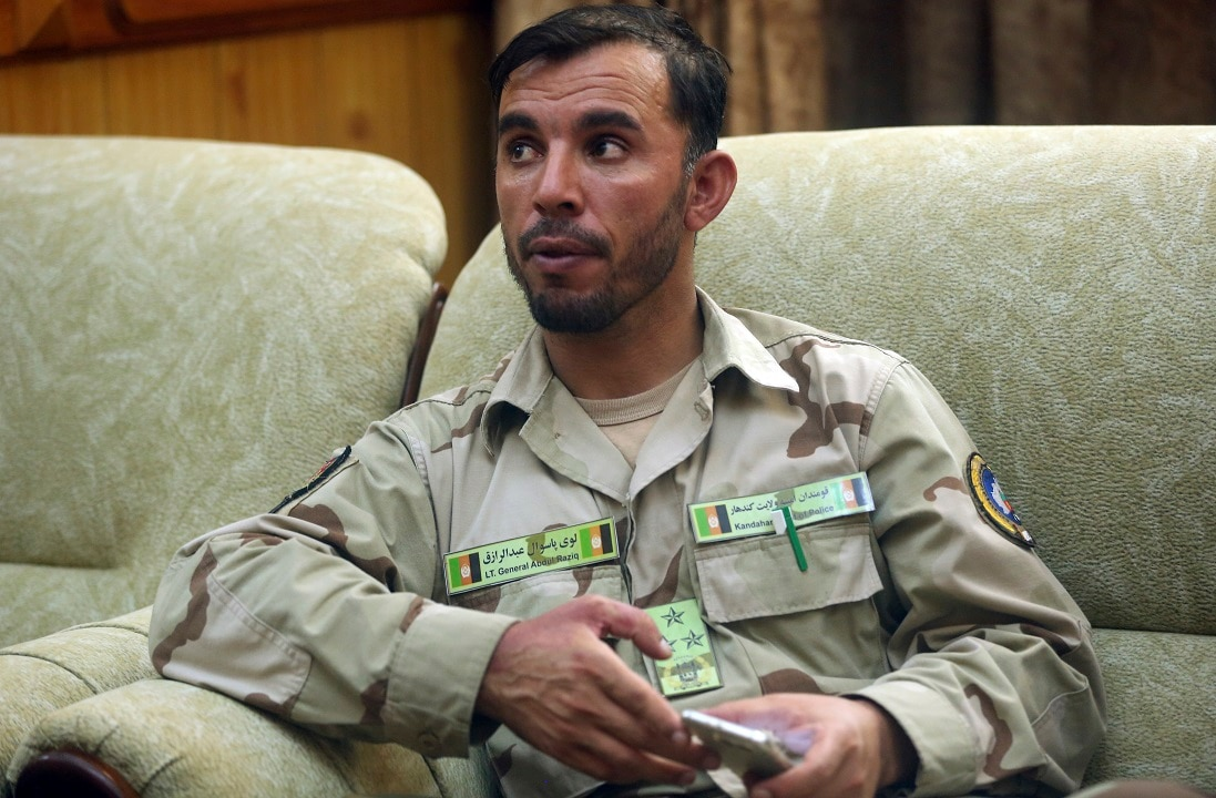 General Abdul Raziq, Kandahar police chief, was killed in a Taliban attack.