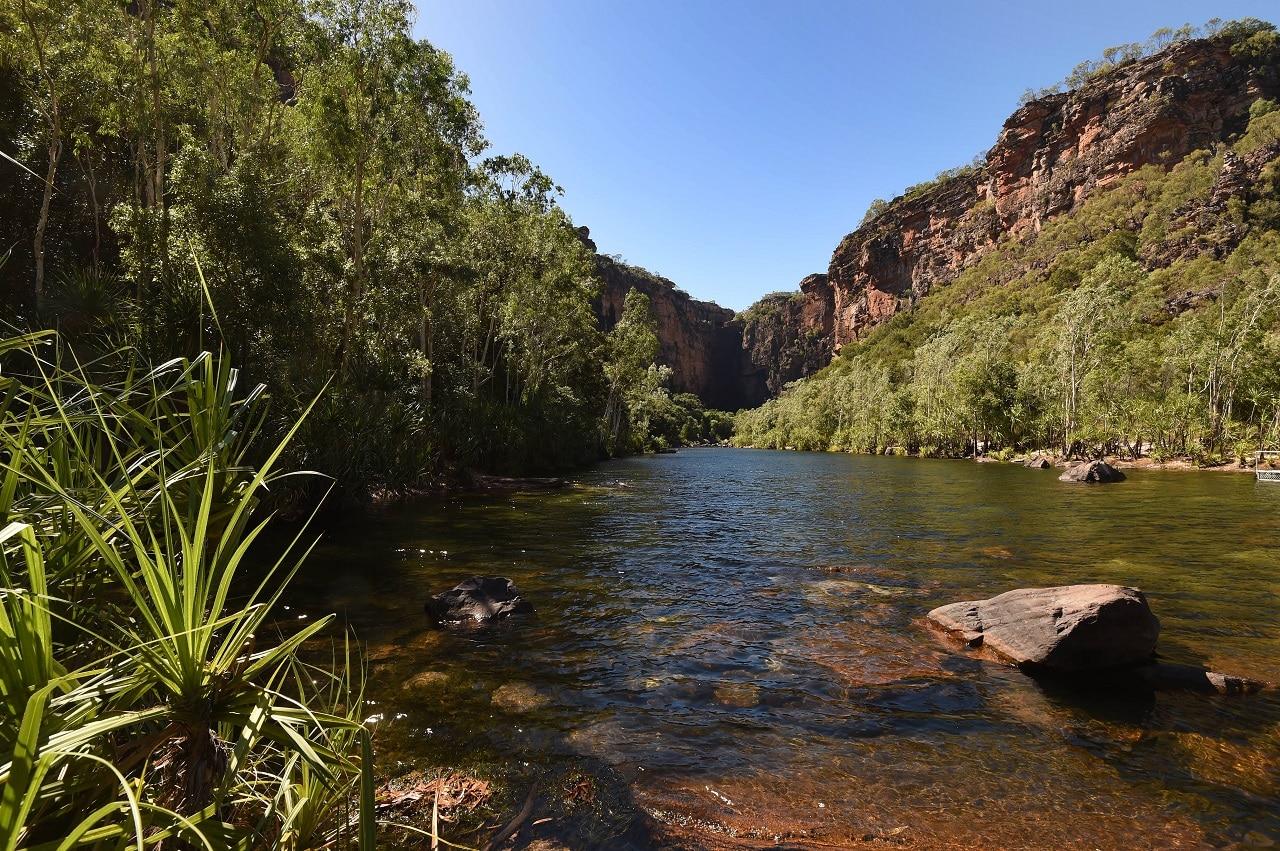 Jim Jim Falls in the World Heritage listed Kakadu National Park, Darwin.