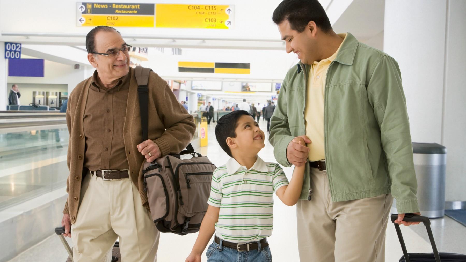 male family members airport