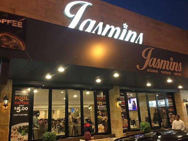 Jasmin's Lebanese restaurant in Liverpool.