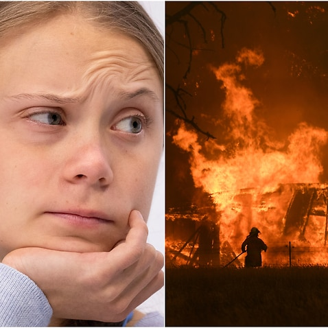 Ms Thunberg has questioned the political response to Australia's bushfire crisis.