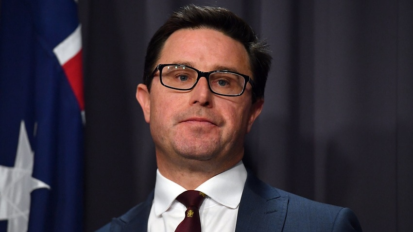 Minister for Agriculture David Littleproud at a press conference at Parliament House in Canberra, Thursday, June 3, 2021. (AAP Image/Mick Tsikas) NO ARCHIVING