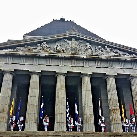 Victorian Greeks honor the 200 Years from the Greek Revolution, Shrine of Remembrance, Melbourne, 2021.