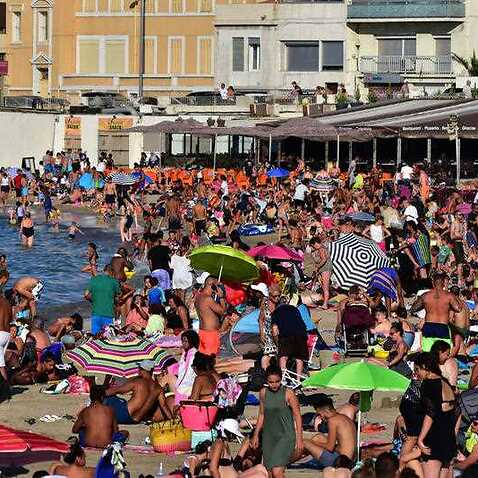 File photo of a French beach