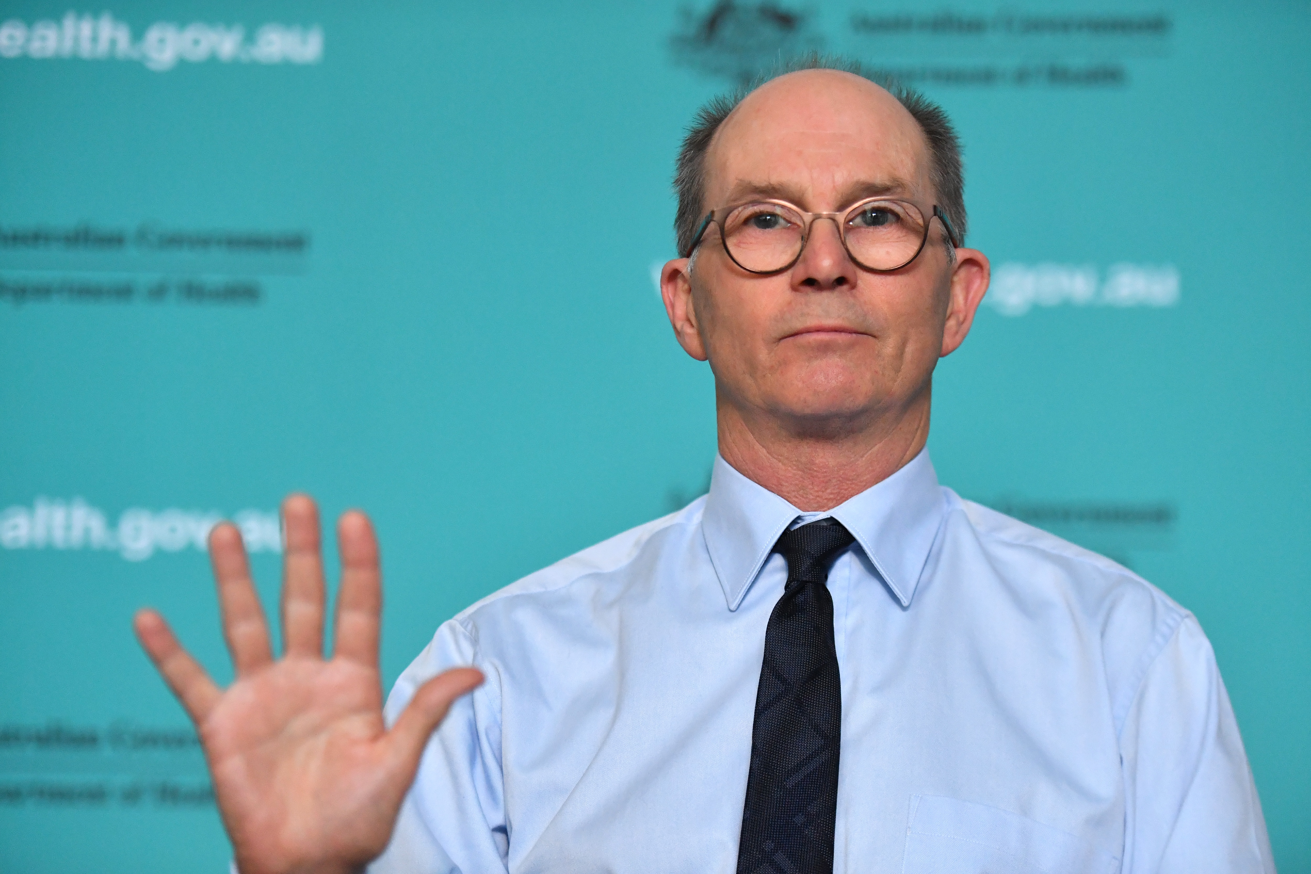 Deputy Chief Medical Officer Professor Paul Kelly speaks to the media during a press conference at the Australian Department of Health in Canberra, Thursday, March 19, 2020. (AAP Image/Mick Tsikas) NO ARCHIVING