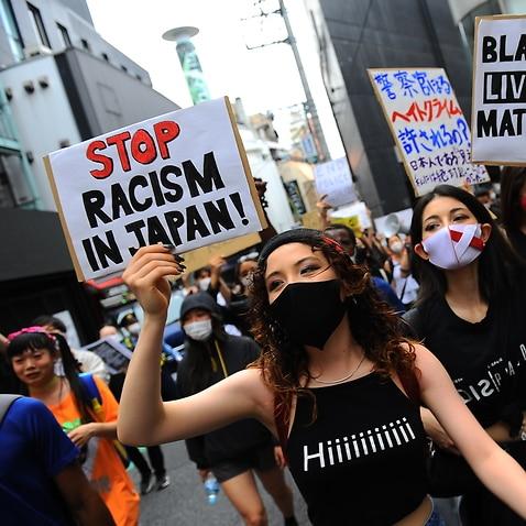 Black Live Matter Protest in Tokyo