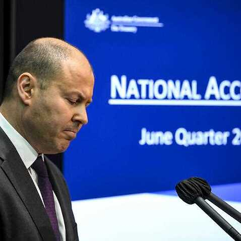 Treasurer Josh Frydenberg speaks to the media during a press conference at Parliament House in Canberra