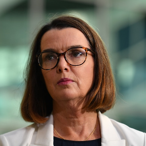 Social Services Minister Anne Ruston at a press conference at Parliament House in Canberra.