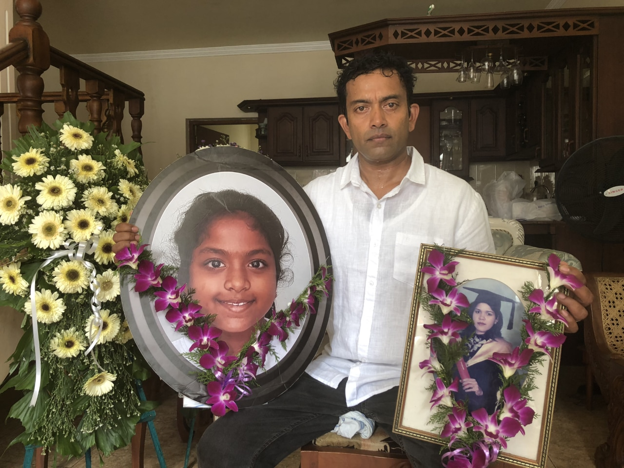 Sudesh Kolonne, the father and husband of the Australian victims of the Sri Lanka terror attacks.